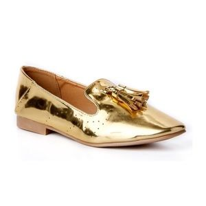 Shoes - Metallic loafers